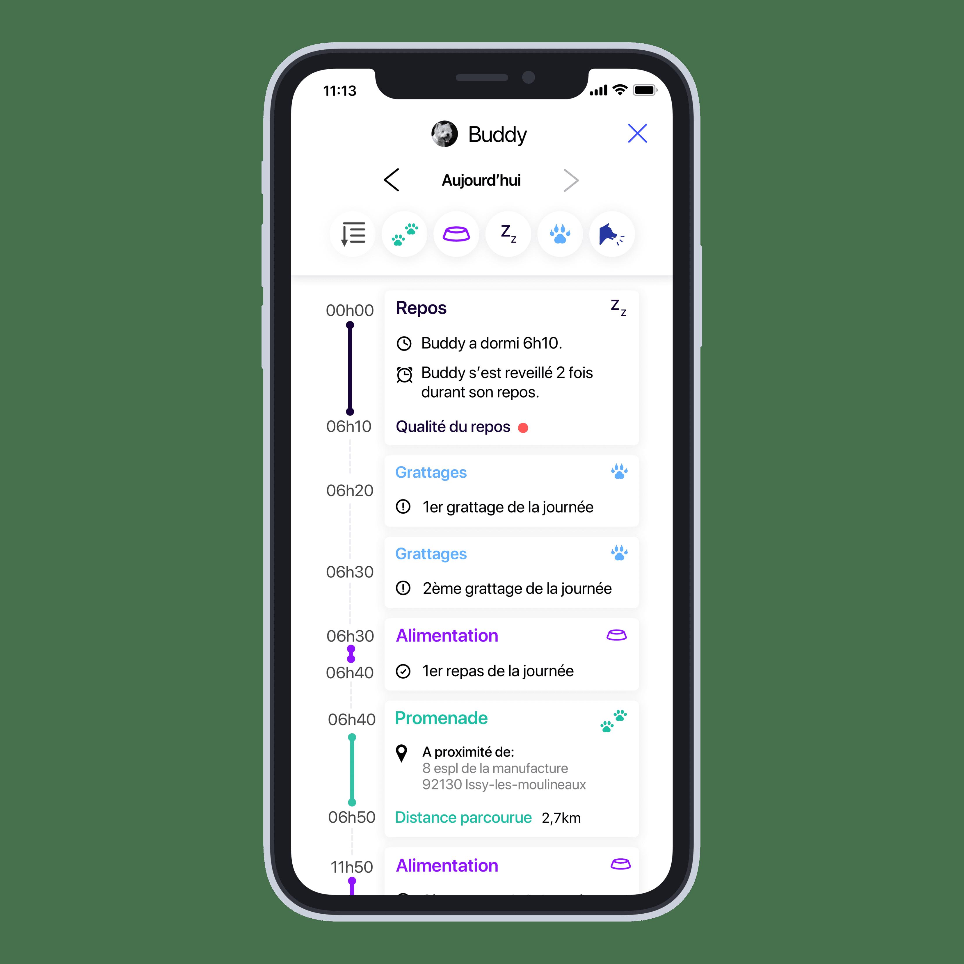 application mobile invoxia suivi d'activité